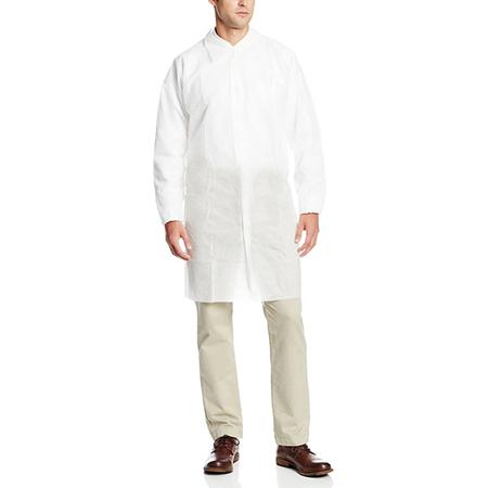 Disposable-lab-coat-press-stud-OR-Velcro